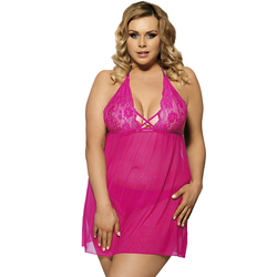Sexy Lingerie Hot Lace Transparent Sex Dress Sex Clothes For Women Halter  Backless Nuisette Grande Taille Sexy Plus Size R80063 f23fa51f8