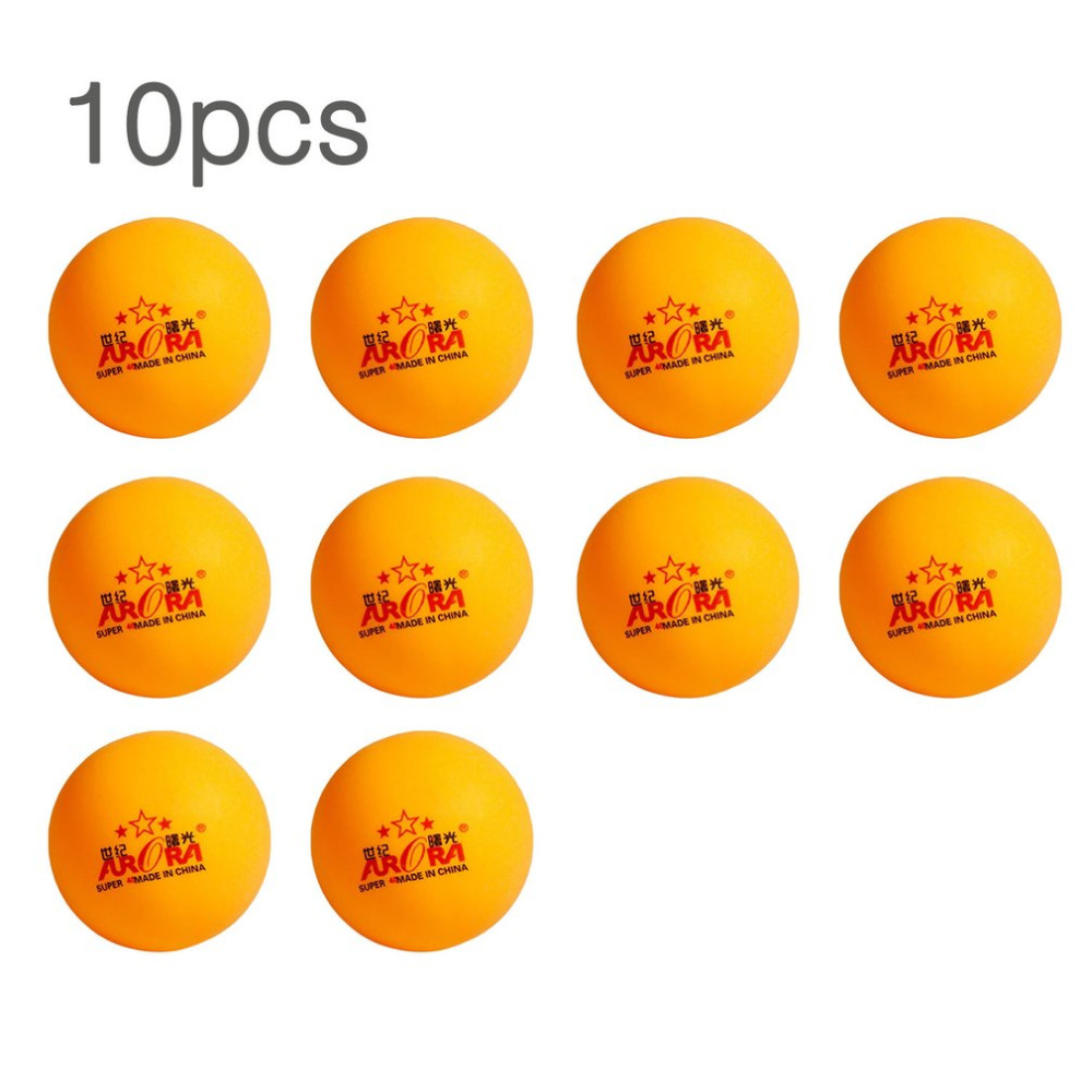 10 Pcs Professional Practice Ping-Pong Ball Table Tennis Ball In Bulk Competition Match Training Equipment Yellow Drop Shipping