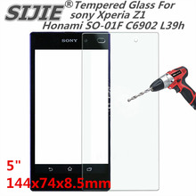 Tempered Glass For sony Xperia Z1 Honami SO-01F C6902 L39h 5 inch Screen protective cover smartphone toughened case 9H on thin mr northjoe tempered glass film screen protector for sony xperia z1 l39h 0 3mm thin 9h hardness