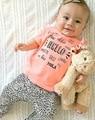 Summer baby girl clothing set summer T-shirt+ pants 2pcs Infant girls clothes sets toddler cloth conjunto roupas de bebe menina