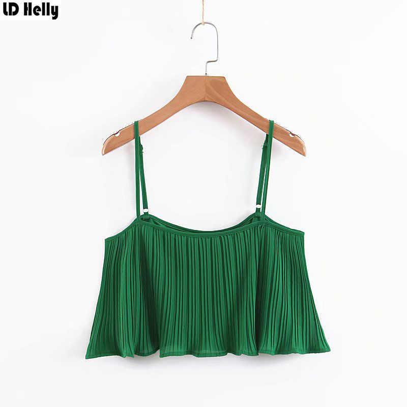 LD ヘリーハンセン夏 2019 レディース緑色キャミソールスパゲッティストラップ女性シャツトップスノースリーブブラウス Blusas Camisas Femininas Mujer