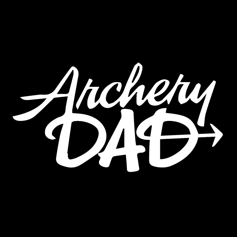 Qypf 16 3cm8 5cm Archery Dad Funny Vinyl Windshield Car Sticker