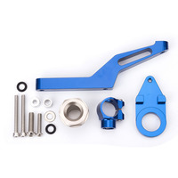 FX CNC Adjustable Steering Stabilize Damper Bracket Mounting Kits Fit For Kawasaki ER6N 2006 2008 Motorcycle