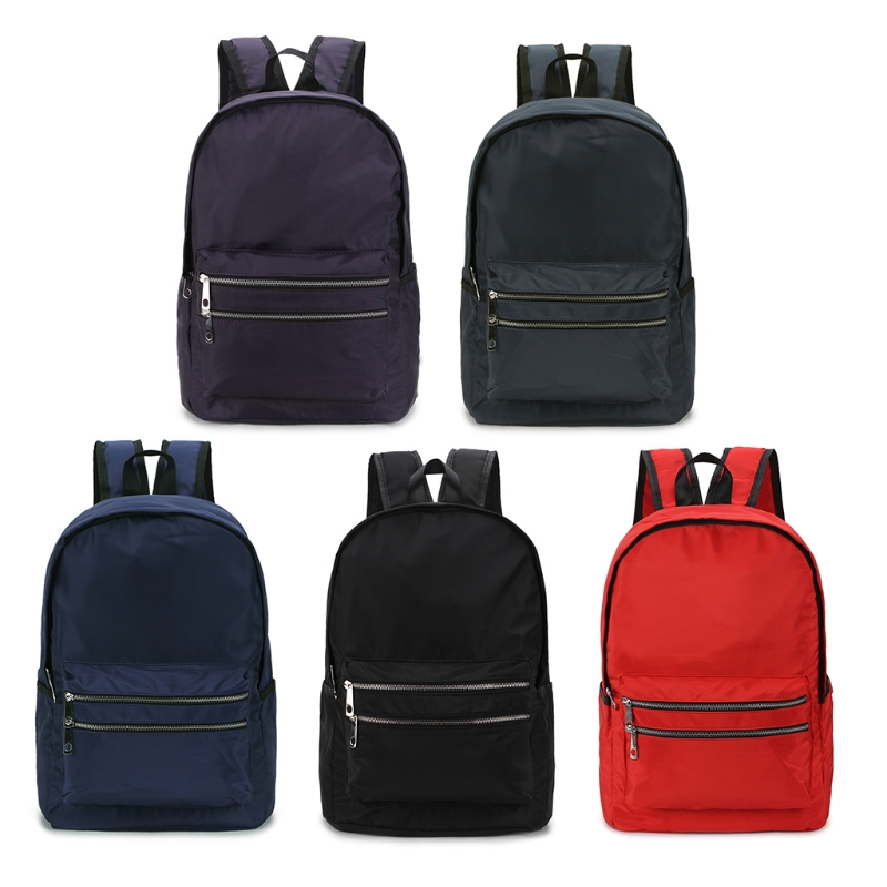 цена Solid color nylon backpack bag Simple Women 914A Men Nylon School Backpack Travel Rucksack Casual Daypack