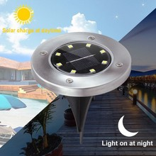8 Led Solar Powered Path Light