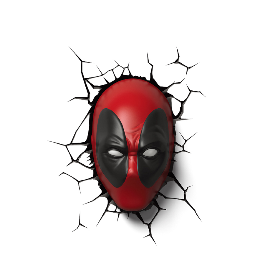 Creative Deadpool Mask modeling 3D Wall Lamp LED Night Light for Bar Store Kids Bedroom Living Room Decoration cartoon kids light led beside toys kids pendant light lamp kids room night light for children bedroom hanging head lamp