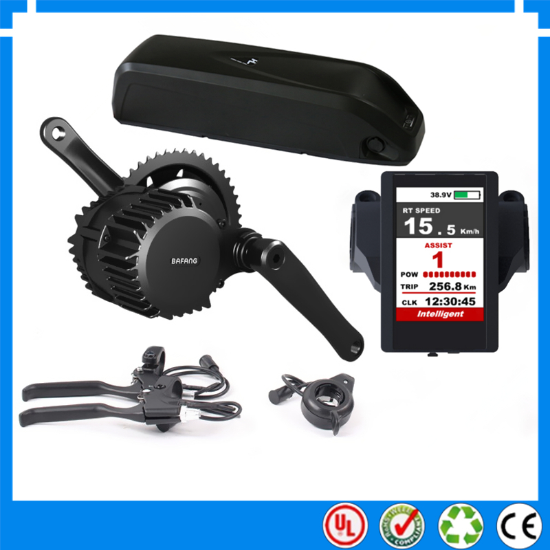Цена за Bbs03/bbshd 48 В 1000 Вт bafang/8fun середине привод электрический двигатель комплект с 48 В 14ah литий ионный вниз трубы ebike батареи