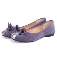 Hot-Selling Cute Mouse Design Spring and Autumn Flats for Women Single Shoes Fashion Flat Heel Shoes Women's Flats Free Shipping
