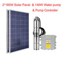 3 DC Screw Well Solar Pump Submersible Bore Hole W/ Controller+Poly Solar Panel
