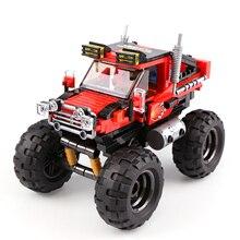 hot deal buy xingbao 03025 vehicle super big foot car truck building blocks bricks toys compatible with logo 60180 blocks car building blocks