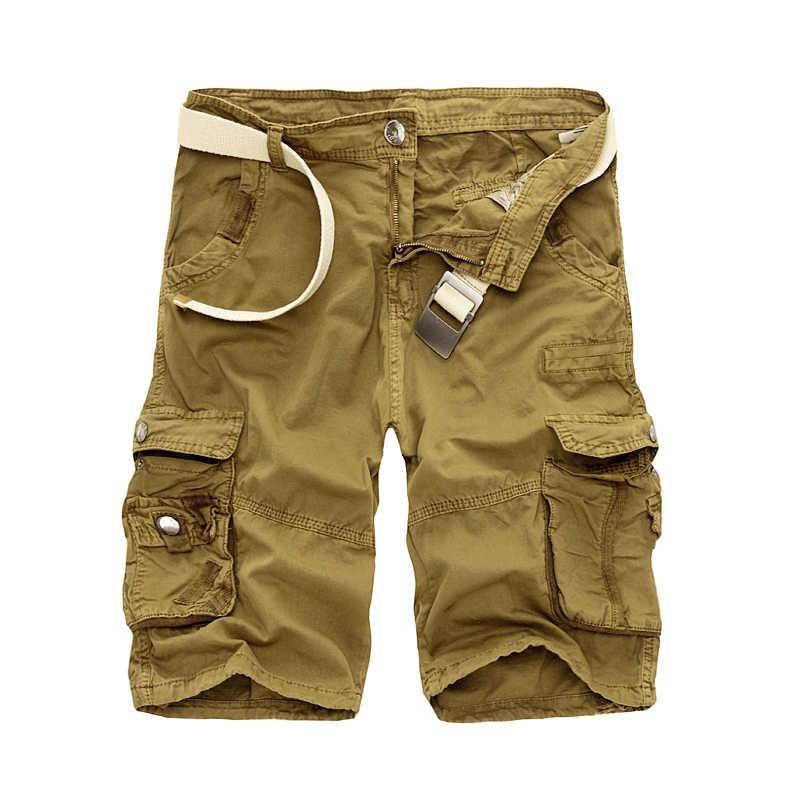 Мужские шорты Карго крутой камуфляж Лето Горячая Распродажа хлопок повседневные мужские короткие штаны Удобная брендовая одежда камуфляж мужские карго шорты
