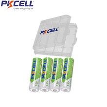 4Pcs PKCELL AA NIMH Batteria Ricaricabile aa 2200mAh Batterie Per La Macchina Fotografica Giocattoli Confezionati e 1 Bassa Autoscarica pc Contenitore di Batteria