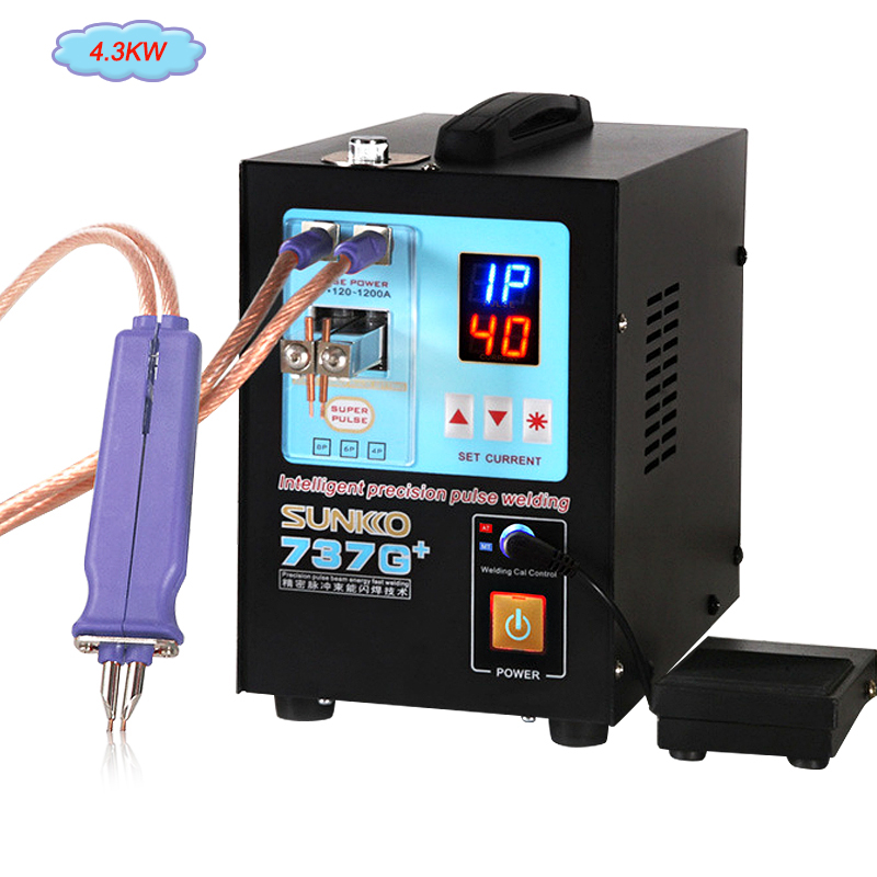 SUNKKO 737G+ Spot Welding Machine 4.3KW High Power Automatic Spot Welding Machine For 18650 Lithium Batteries Pulse Spot Welders