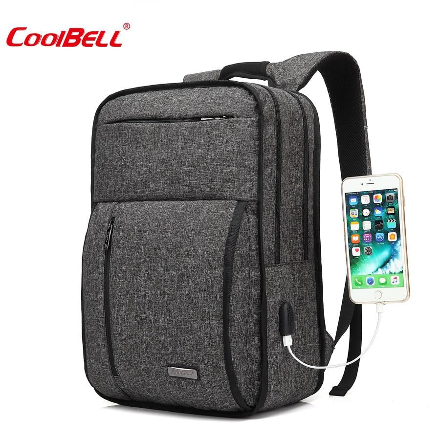 Coolbell 2018 nouvelle mode 15.6 pouce USB Charge ordinateur portable sac à dos étanche Nylon adolescent loisirs voyage valise sac pour ordinateur portable