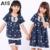 A15 de la marca traje de dormir niño niñas ropa de verano de los cabritos ropa de dormir de la historieta ropa de Dormir de encaje Conjunto 3 6 8 10 12 14 Años Adolescentes pijamas