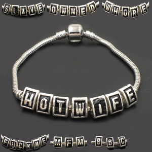 BBC bracelet slave hot wife swinger fetish cuckold cck jewelry queen of spades fmf sexy owned use me QOS LIFE STYLE F243(China)