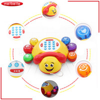 Baby Large Telephone Toys Animals Sounds Lights Stories Children Infant Muscial Gift Seven Star Beetles Phone Puzzle Toy