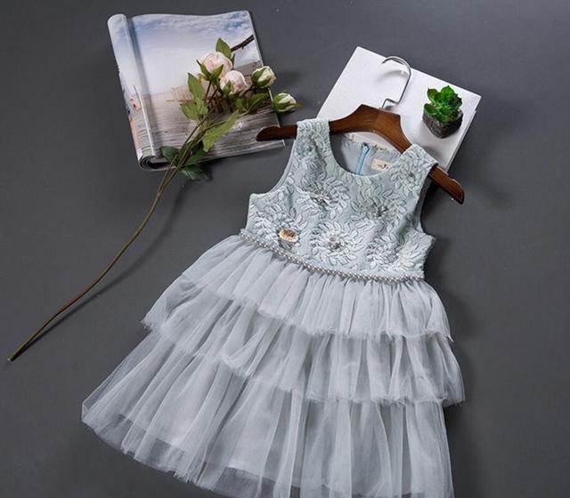 256f1cabe New Baby Girls Summer Cotton Beading Lace Dresses