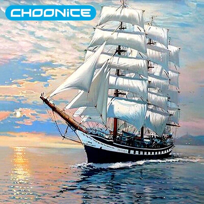 diamond painting ship sailing