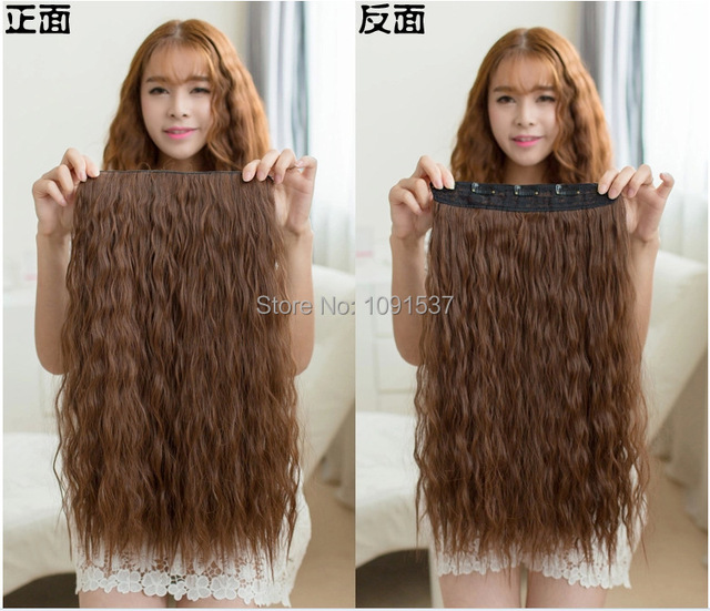 24 55cm Long Curly Hair Extension Corn Hot Women Hot Sale Waving