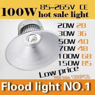 ФОТО All aluminum LED bay light series 100W Industrial Task Lighting  AC110-240V CE&ROHS Outdoor droplight free shipping