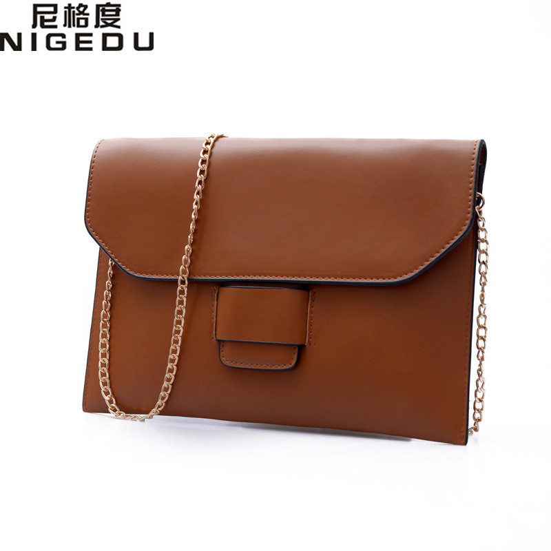 Vintage Womens Envelope clutch bag PU leather women Shoulder messenger bag chain crossbody bags bolsa feminina Women's Clutches ejor tiku structure conduct and performance of palm oil marketing in nigeria
