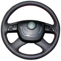 Black Artificial Leather Car Steering Wheel Cover for Skoda Octavia Octavia a5 a 5 Superb 2012 2013
