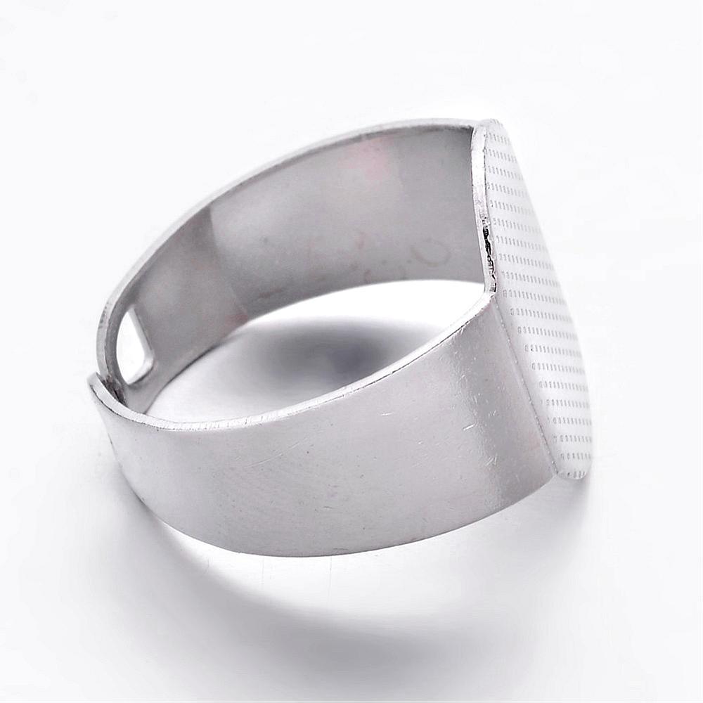 Image 4 - 200 sztuk/partia rozmiar 6 (16.5mm) mosiężny mankiet Pad płaski pierścień bazy pierścienie ustawienie komponenty z 15x11mm taca hurtowniring basebrass ring basebase pad -