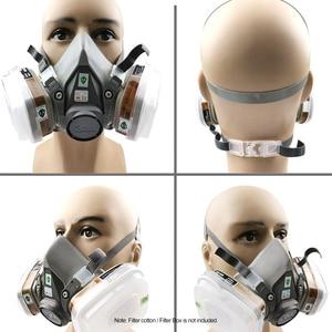 Image 4 - 3M 7 في 1/17 في 1 6200 الصناعية نصف الوجه اللوحة الرش التنفس قناع واقي من الغاز دعوى سلامة العمل تصفية الغبار قناع استبدال