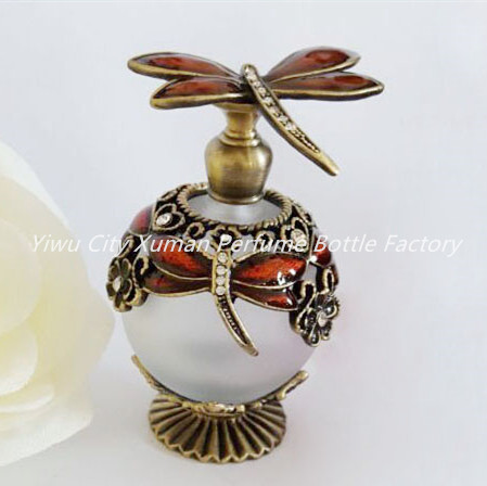 Metal Perfume Refillable Bottles Empty Dragonfly Ball Beautiful Adornment Crafts Travel Gift Makeup Bottle For Birthday Gift