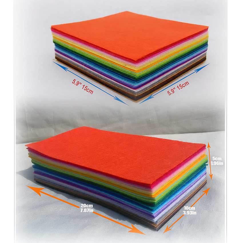 Buy cmcyiling 80 sheets felt fabric cloth for Fabric supply