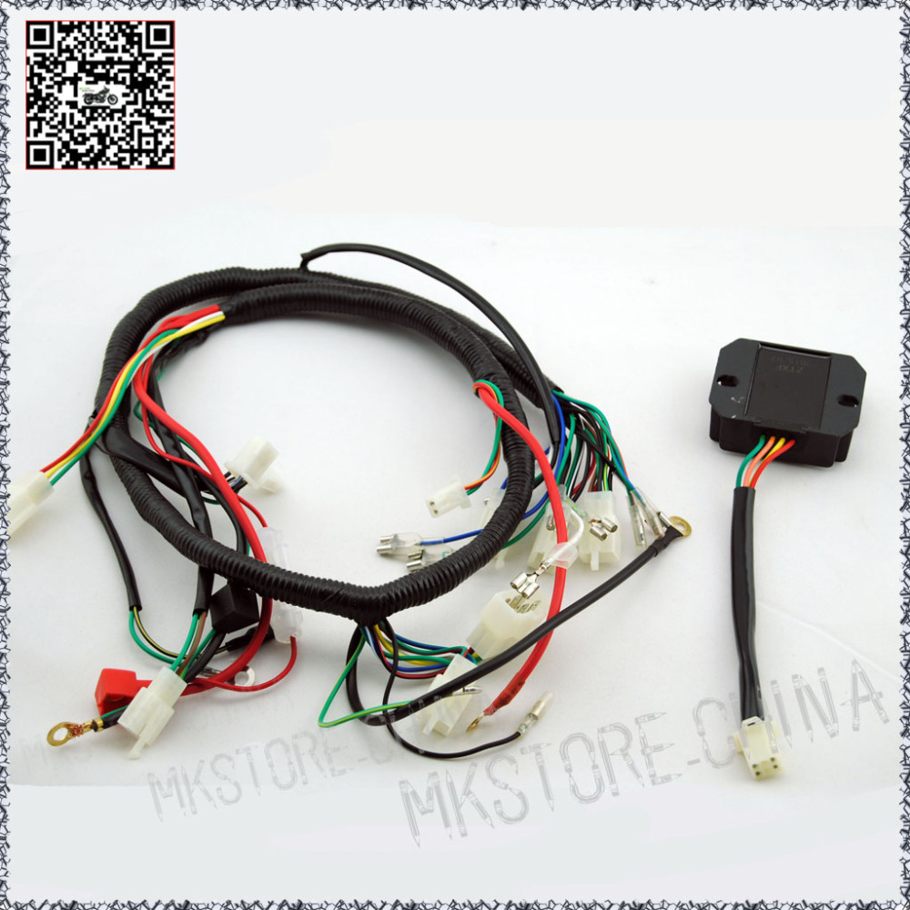 hight resolution of quad wiring harness 200 250cc chinese electric start loncin wiring diagram mega