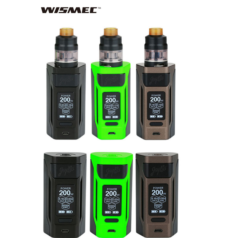 Wismec Reuleaux RX2 20700 kit/mod box with GNOME Atomizer 4ML fit WM Coil electronic cigarette vape kit vs gen3 dual