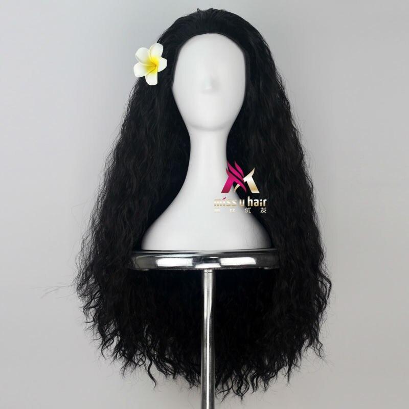 marrom escuro moana cabelo preto filme de