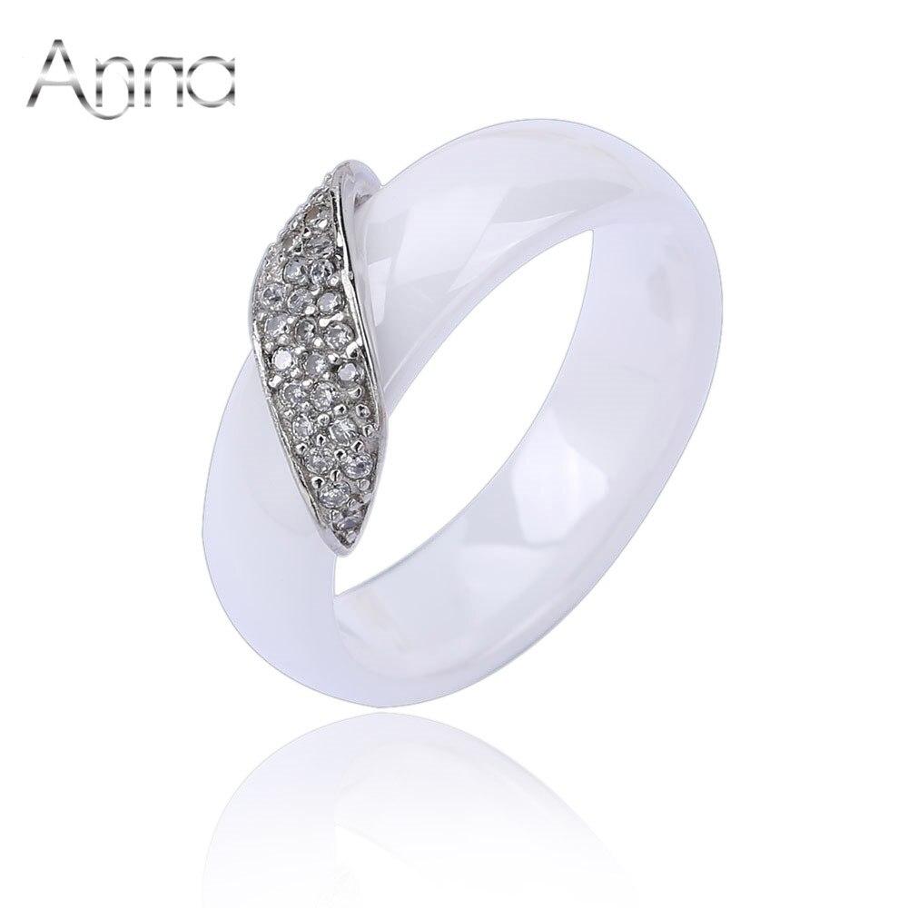 a n new fashion white black ceramic rings for women brand