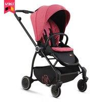 Viki alta paisagem luz pesar carrinho de bebê  carrinho de quatro rodas dobrável portátil  carrinho de bebê kinderwagen  assento carrinho de bebê reverserble