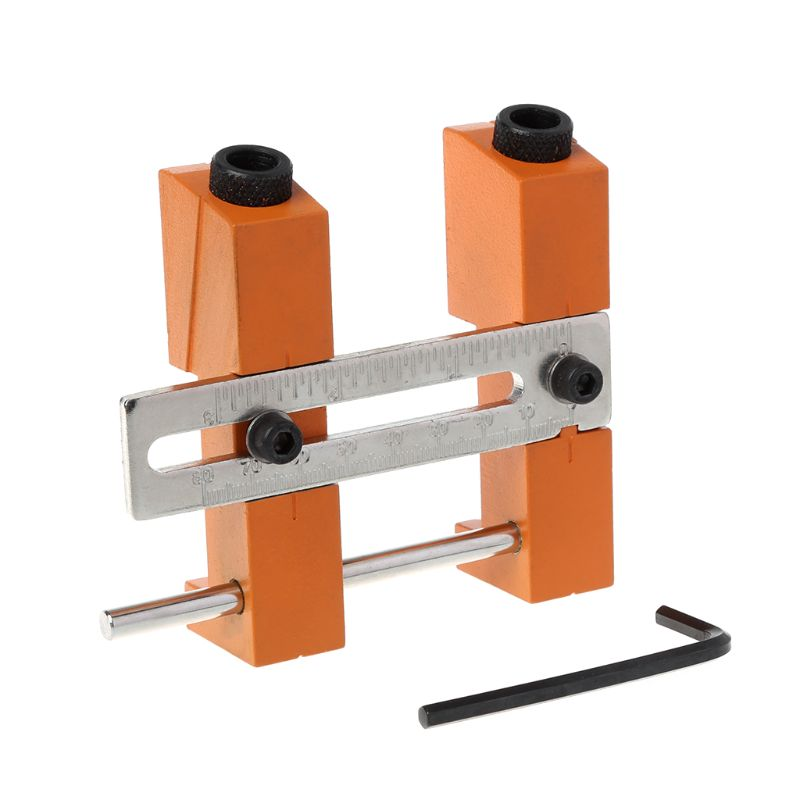 Adjustable Pocket Hole Drill Guide Kit 20-85mm Width Angle Drilling Perforator Locator Jig For DIY Carpentry Woodworking Tools
