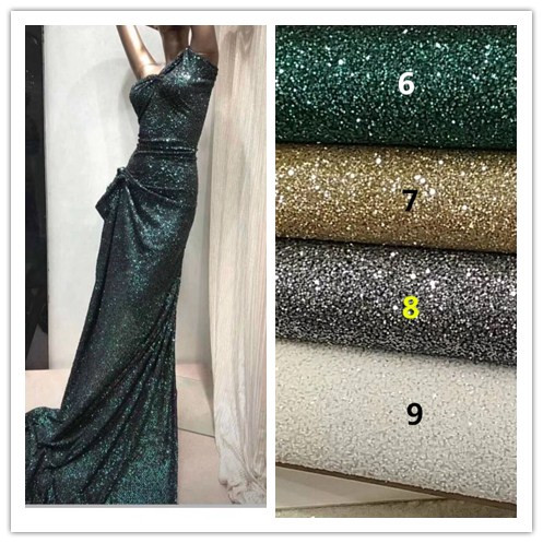 Top selling 5 yards lot glued glitter lace fabric JIANXI C 1811 fashion tulle glitter lace