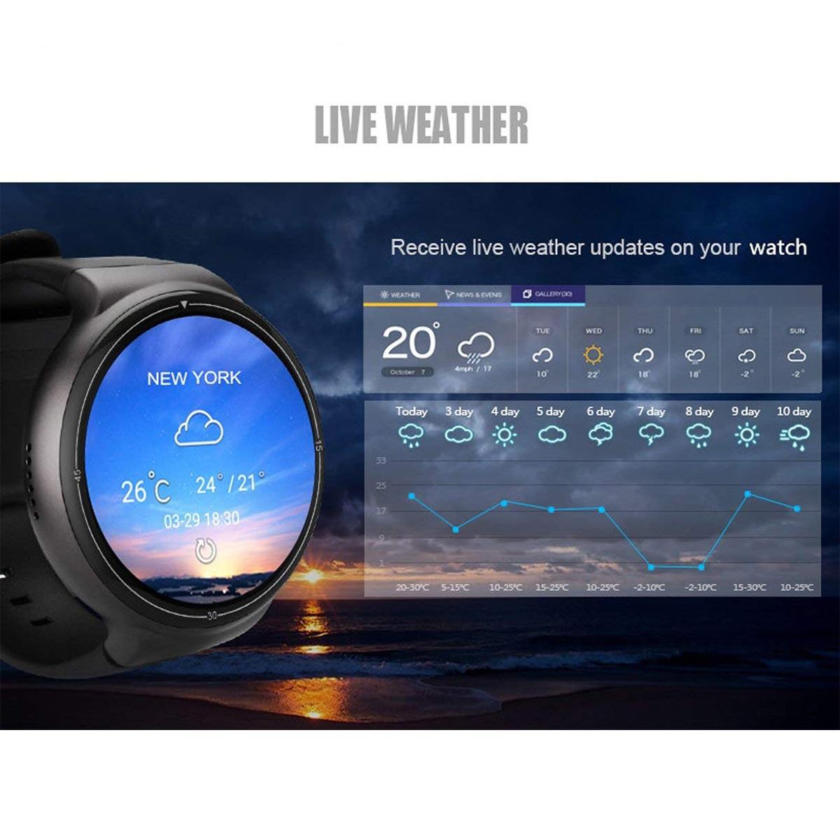 I4 16 2 AR Relógio Inteligente RAM GB ROM GB 3 2MP Câmera Android 5.1G WIFI GPS Google Play monitor De Freqüência Cardíaca Para O Iphone LG Samsung HT - 3