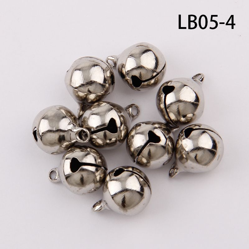 Silver Gold Nickel Copper Jingle Bells Pendants Hanging Christmas Ornaments Christmas Decorations Party DIY Crafts Accessories