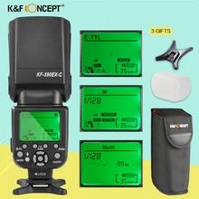 цена на K&F KF590C TTL Professional Flash Speedlight for CANON DSLR Rebel T6i T6s T5i T4i T3i T2i T1i T5 T3 XT XSi XSi EOS 7D 5D 70D 60D