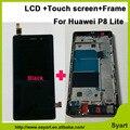 1 шт./лот Мобильного Телефона ЖК-Дисплей С Сенсорным Экраном Digitizer стекло Ассамблеи Замена с рамкой Для Huawei Ascend P8 lite 5.0 Дюйма