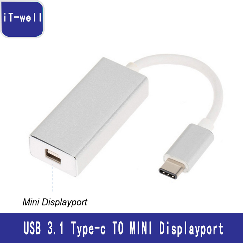 USB Type-C to Mini DisplayPort Adapter 4K HD USB-C to Mini DP Converter Cable For Apple Air Pro usb 3 1 type c usb c to mini displayport dp male 4k monitor cable for macbook