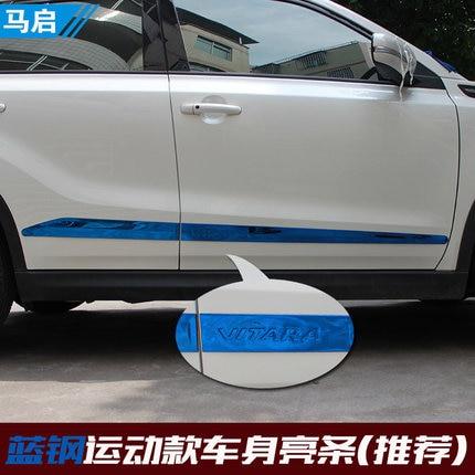 304 stainless steel body trim strip door anti-rub for Suzuki Vitara 2015 2016 2017 Car styling 2016 suzuki vitara 304 stainless steel body trim trim car styling 4pcs