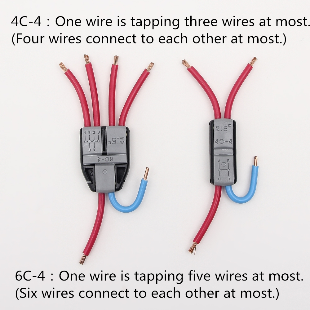 JOWX 100PCS For 14 13 AWG 2.5mm2 FIVE WIRES CONNECT EACH OTHER Non ...