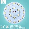 1 W 3 W 5 W 7 W 9 W 12 W 15 W 18 W 21 W 24 W 30 W 36 W LED de ALTA POTÊNCIA Estrela com Base de Alumínio Placa Radiador, Painel de Bordo LEVOU Circular