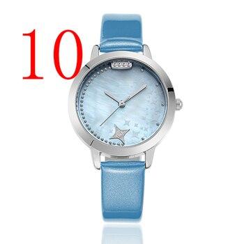 Часы Дамская мода бренд алмазные украшения кварцевые часы дамы классический круглый из нержавеющей стали женский часы Relogio