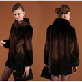 2016 Warm winter mink fur coat coats turn-down collar Shiny diamond buttons woman coat  jacket faux fur Factory outlets
