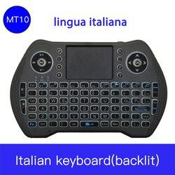 Mysz włoski MT10 2.4GHZ Mini bezprzewodowa Bluetooth klawiatura Touchpad dla systemu Android pracę do domu biuro biznes podróż klawiatury do laptopów