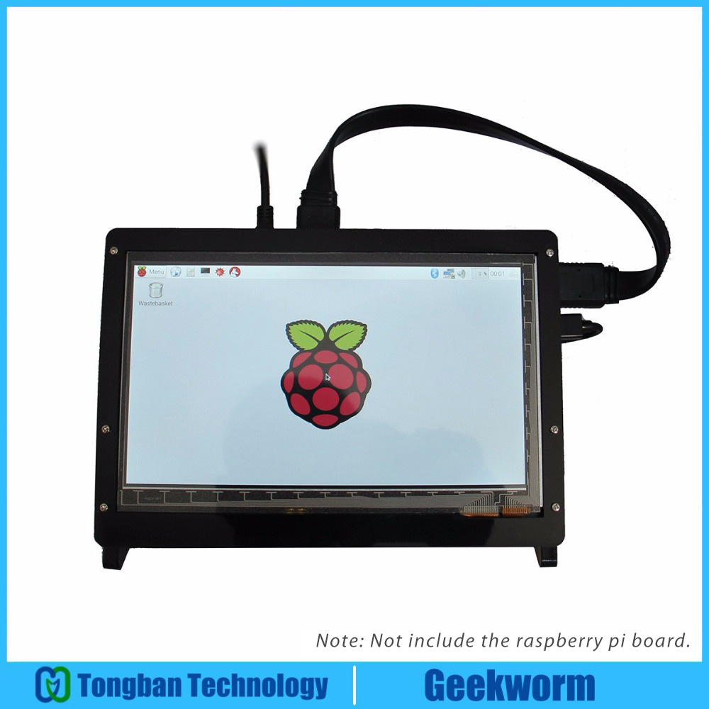 Geekworm Raspberry Pi 3 Model B 7 Inch 1024 600 TFT Capacitive Touch Screen Acrylic Stander